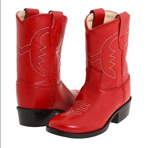 Old west Red girls boots